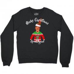 funny trump christmas ugly christmas Crewneck Sweatshirt | Artistshot