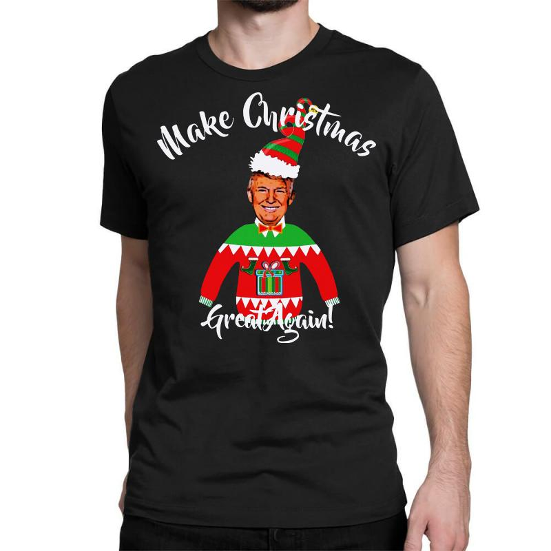 Funny Trump Christmas Ugly Christmas Classic T-shirt | Artistshot
