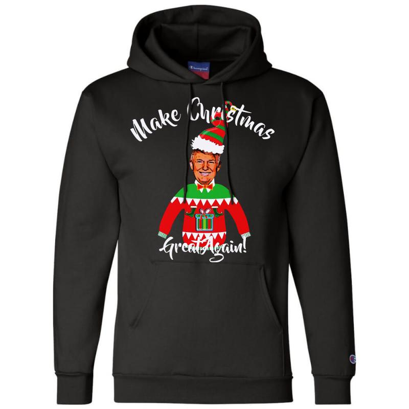 Funny Trump Christmas Ugly Christmas Champion Hoodie   Artistshot
