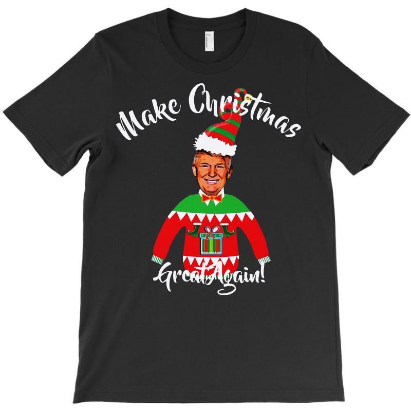 Funny Trump Christmas Ugly Christmas T-shirt   Artistshot