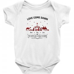 love came down best day ever for unto us a child is born christmas for Baby Bodysuit | Artistshot