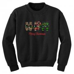 merry christmas ballerina shoes plaid pattern for dark Youth Sweatshirt   Artistshot