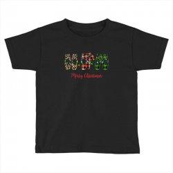 merry christmas ballerina shoes plaid pattern for dark Toddler T-shirt   Artistshot