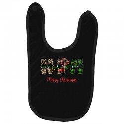merry christmas ballerina shoes plaid pattern for dark Baby Bibs   Artistshot