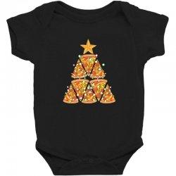 christmas tree pizza Baby Bodysuit | Artistshot