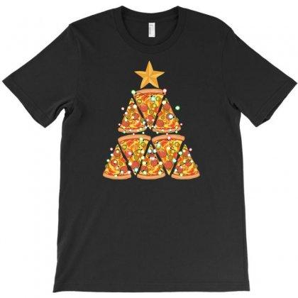 Christmas Tree Pizza T-shirt Designed By Neset