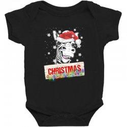christmas zebra Baby Bodysuit | Artistshot