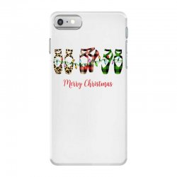 merry christmas ballerina shoes plaid pattern for light iPhone 7 Case | Artistshot