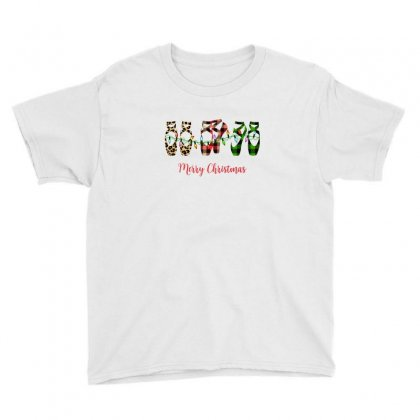 Merry Christmas Ballerina Shoes Plaid Pattern For Light Youth Tee Designed By Zeynepu