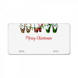 merry christmas ballerina shoes plaid pattern for light License Plate | Artistshot
