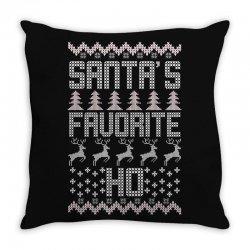 santa's favorite ho for dark Throw Pillow | Artistshot