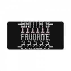 santa's favorite ho for dark License Plate   Artistshot