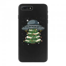 ufo christmas pine tree iPhone 7 Plus Case | Artistshot