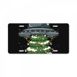 ufo christmas pine tree License Plate | Artistshot