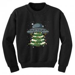 ufo christmas pine tree Youth Sweatshirt   Artistshot