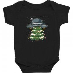 ufo christmas pine tree Baby Bodysuit   Artistshot