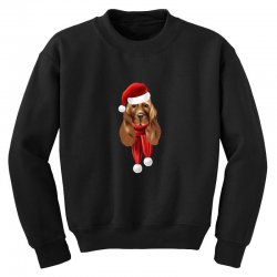 santa claus dog Youth Sweatshirt | Artistshot