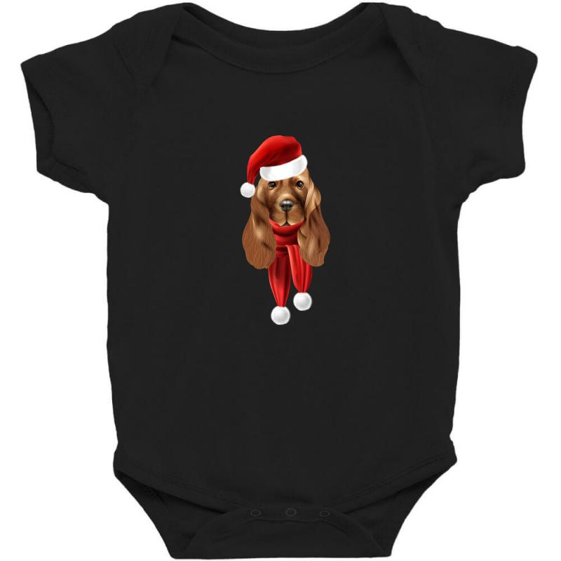 Santa Claus Dog Baby Bodysuit | Artistshot