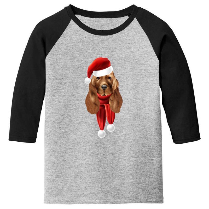 Santa Claus Dog Youth 3/4 Sleeve | Artistshot