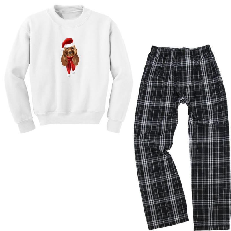 Santa Claus Dog Youth Sweatshirt Pajama Set   Artistshot