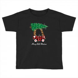 merry little christmas for dark Toddler T-shirt | Artistshot
