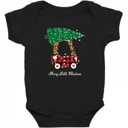 merry little christmas for dark Baby Bodysuit | Artistshot