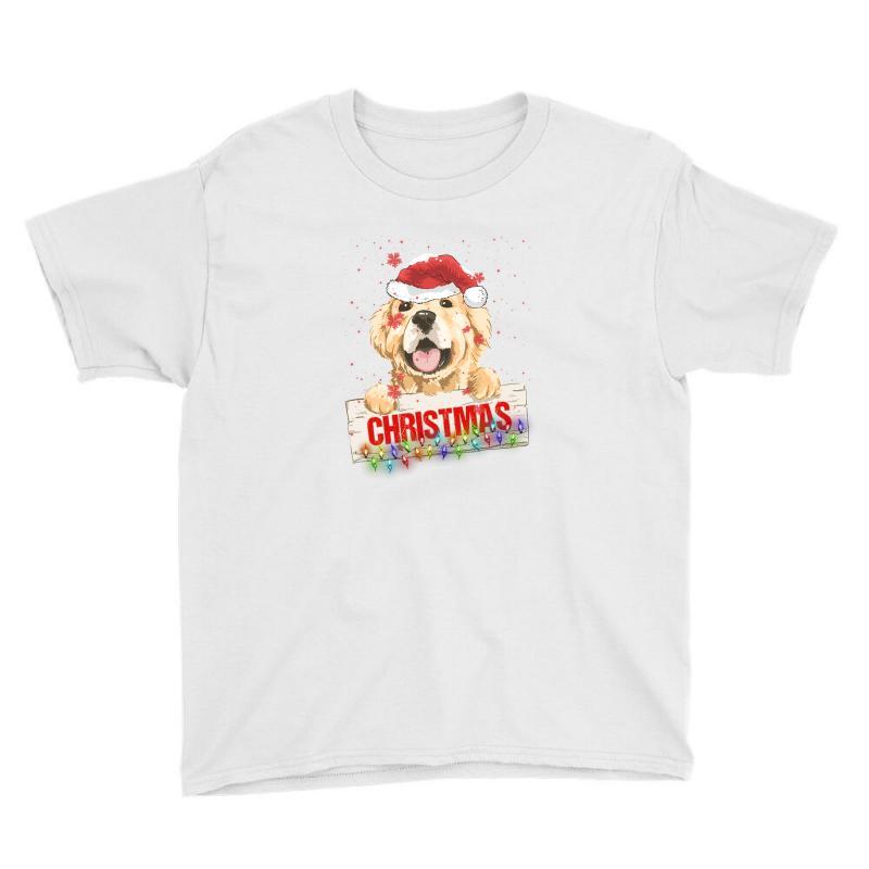 Golden Dog Christmas Youth Tee | Artistshot