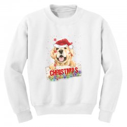 golden dog christmas Youth Sweatshirt | Artistshot