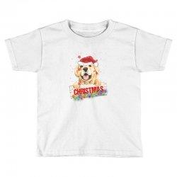golden dog christmas Toddler T-shirt | Artistshot