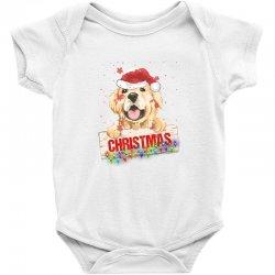 golden dog christmas Baby Bodysuit | Artistshot