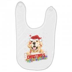 golden dog christmas Baby Bibs | Artistshot