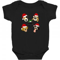 christmas puppies Baby Bodysuit | Artistshot