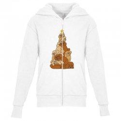 christmas tree poodle Youth Zipper Hoodie   Artistshot