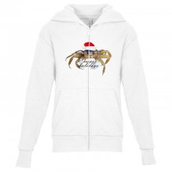 crabby christmas,hapy holidays Youth Zipper Hoodie | Artistshot
