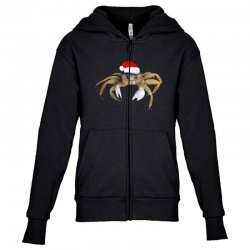 crabby christmas Youth Zipper Hoodie   Artistshot