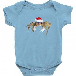 crabby christmas Baby Bodysuit   Artistshot