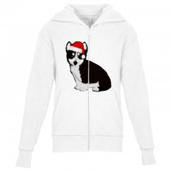 cute baby husky dog Youth Zipper Hoodie | Artistshot