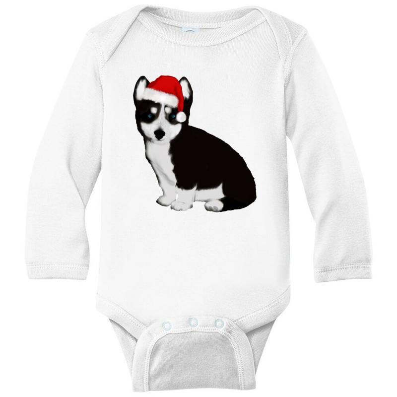 Cute Baby Husky Dog Long Sleeve Baby Bodysuit | Artistshot