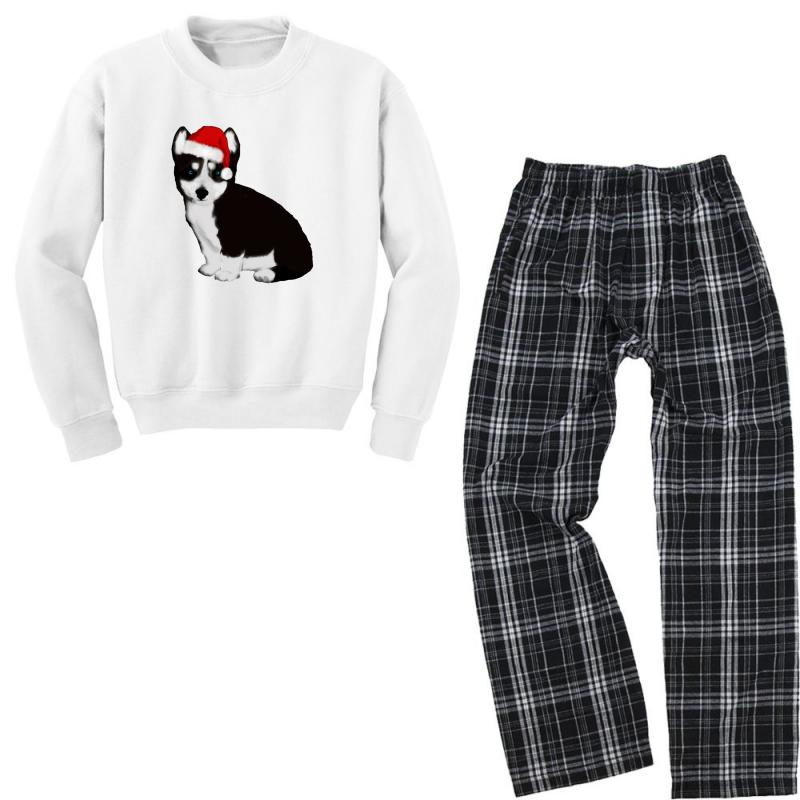 Cute Baby Husky Dog Youth Sweatshirt Pajama Set | Artistshot