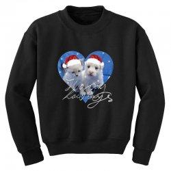 cute christmas puppy and kitten,santa Youth Sweatshirt | Artistshot
