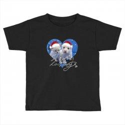 cute christmas puppy and kitten,santa Toddler T-shirt | Artistshot