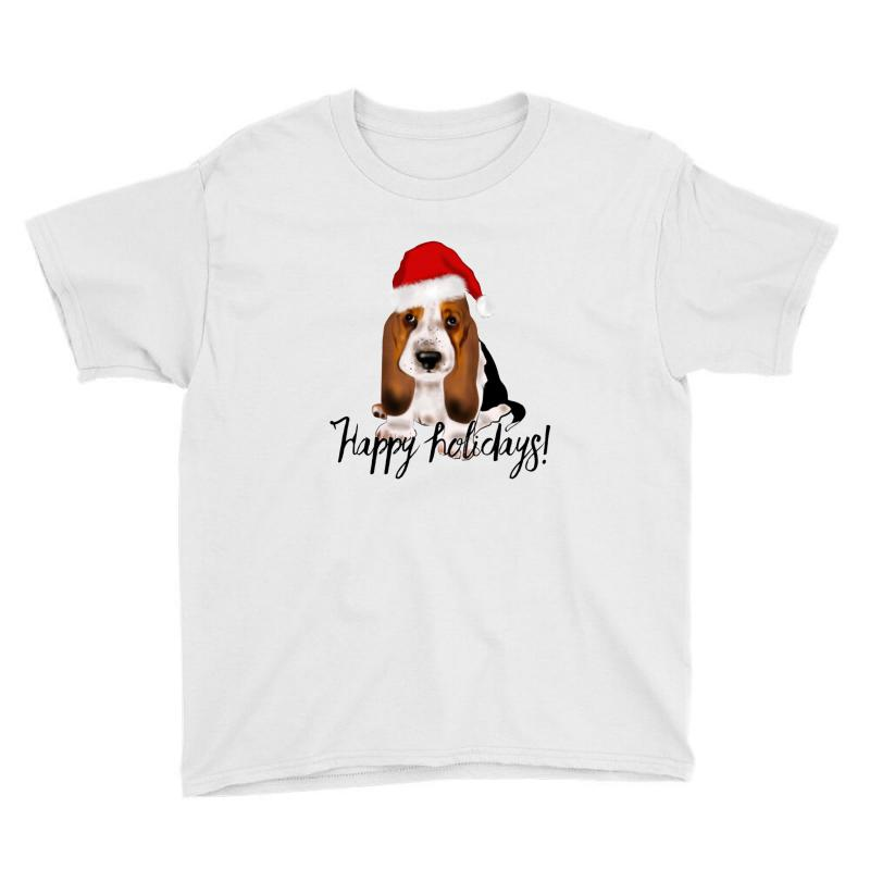 Cute Santa Basset Hound Dog Christmas Puppy Gift Idea Youth Tee | Artistshot