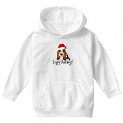cute santa basset hound dog christmas puppy gift idea Youth Hoodie | Artistshot