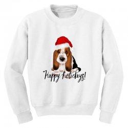 cute santa basset hound dog christmas puppy gift idea Youth Sweatshirt | Artistshot
