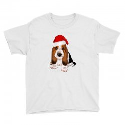 cute santa besset hound dog Youth Tee | Artistshot