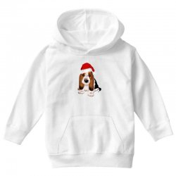 cute santa besset hound dog Youth Hoodie | Artistshot
