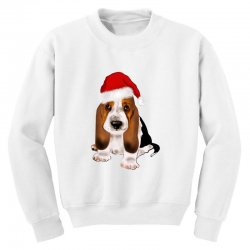 cute santa besset hound dog Youth Sweatshirt | Artistshot