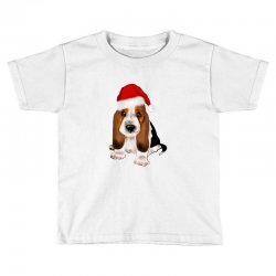 cute santa besset hound dog Toddler T-shirt | Artistshot