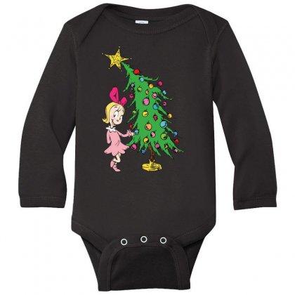 I've Been Cindy Lou Who Good Long Sleeve Baby Bodysuit Designed By Mirazjason