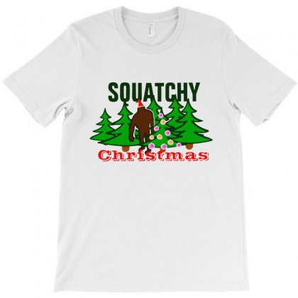 Squatchy Christmas T-shirt Designed By Mirazjason